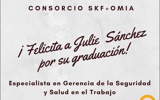 Felicitamos a Julie Sanchez