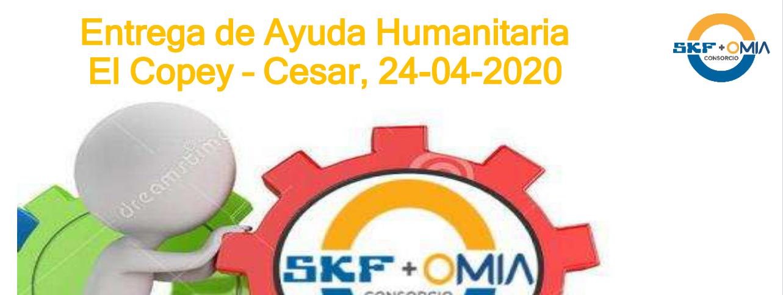 Entrega ayuda humanitaria El Copey Cesar, 24 04 2020