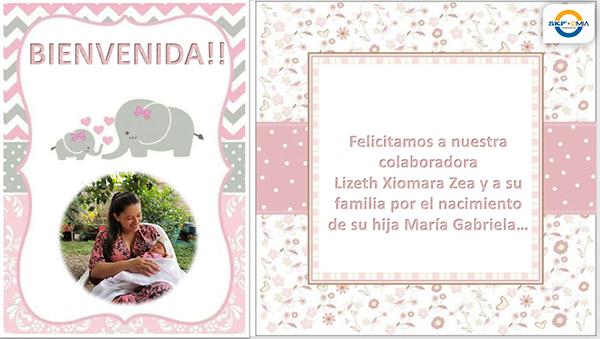 Felicitamos a Lizeth Xiomara Zea