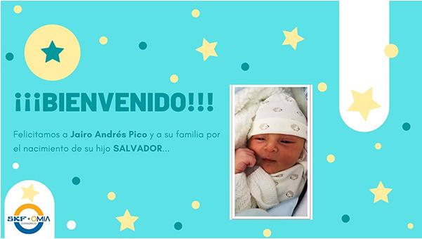 ¡BIENVENIDO! Felicitamos a Jairo Andrés Pico