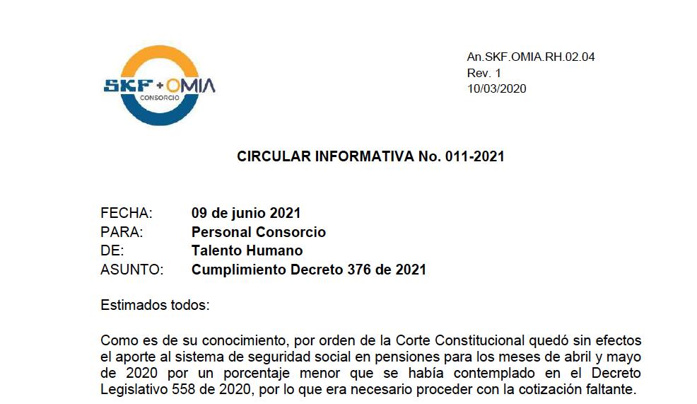 Circular Informativa 011-2021