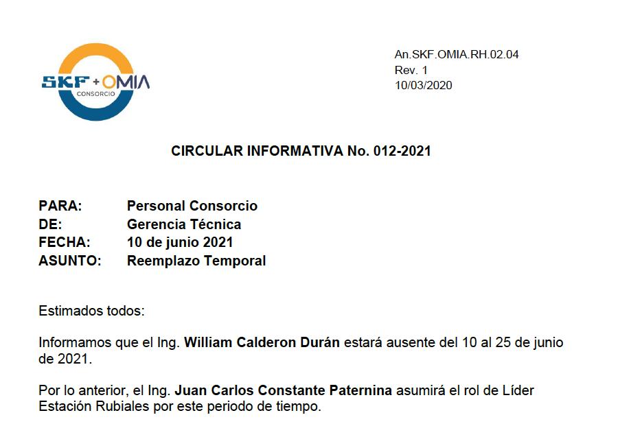Circular Informativa 012-2021