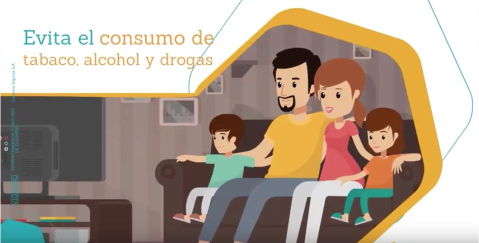 Video Evita consumo tabaco alcohol y drogas 2021