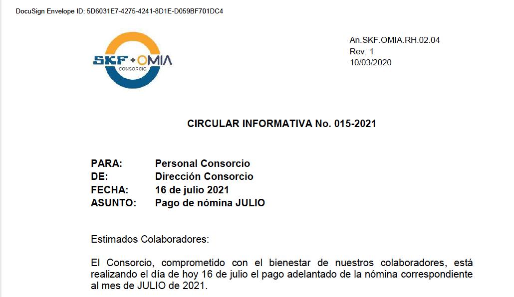 Circular Informativa 15
